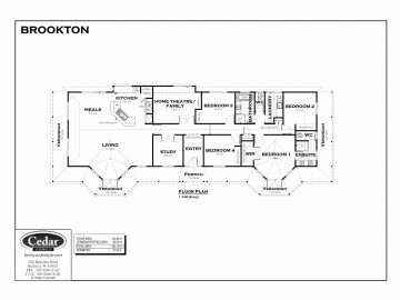 floor plan of the brookton design house floor plan against a white background