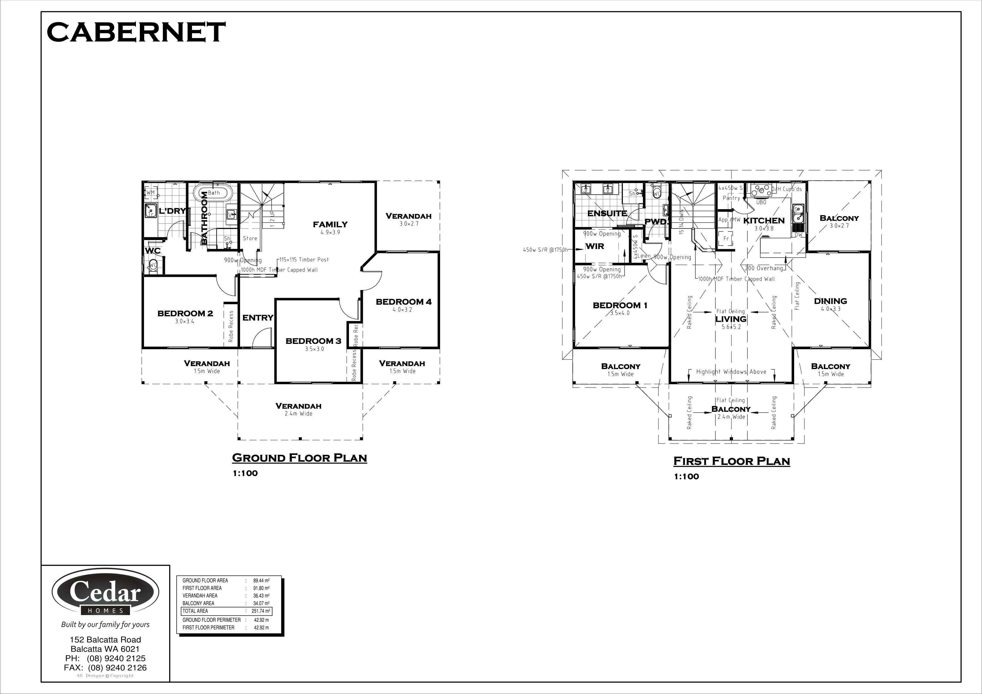 Cedar Homes Cabernet Floor Plan