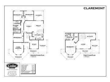 Cedar Homes Claremont Floor Plan