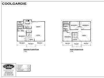 Coolgardie style house floor plan against a whit background